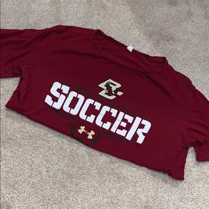 Under Armour Boston college soccer short sleeve